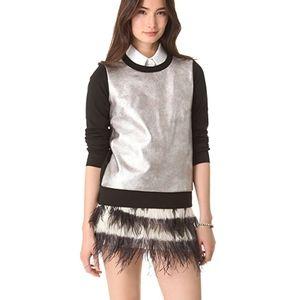 Club Monaco Beige Feather Skirt 00